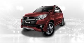 Harga Toyota Rush di Pontianak Warna Dark Red Mica Metallic