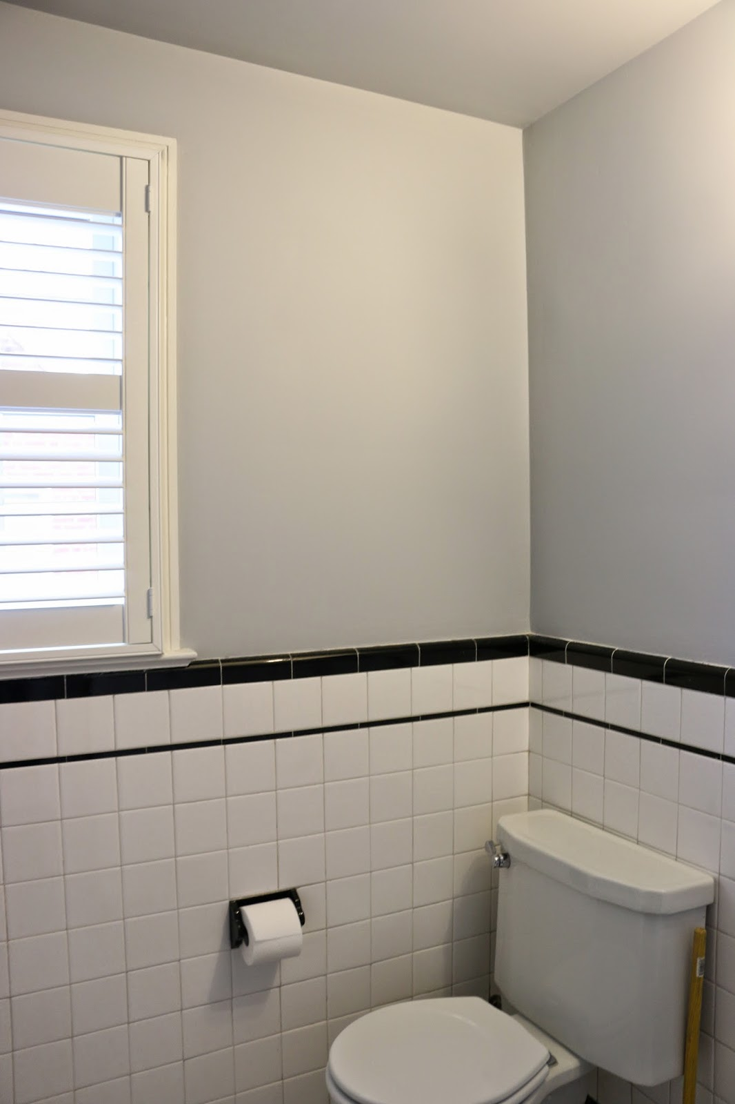 houseography paint progress hall bath. Black Bedroom Furniture Sets. Home Design Ideas