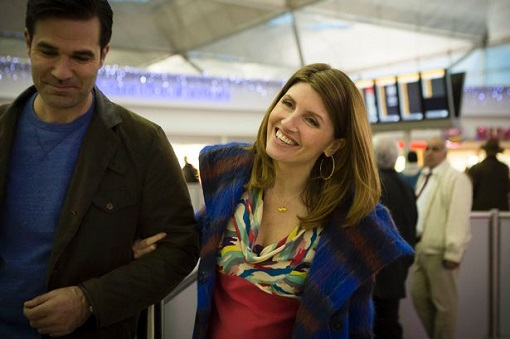 Rob Delaney y Sharon Horgan en el set de Catastrophe