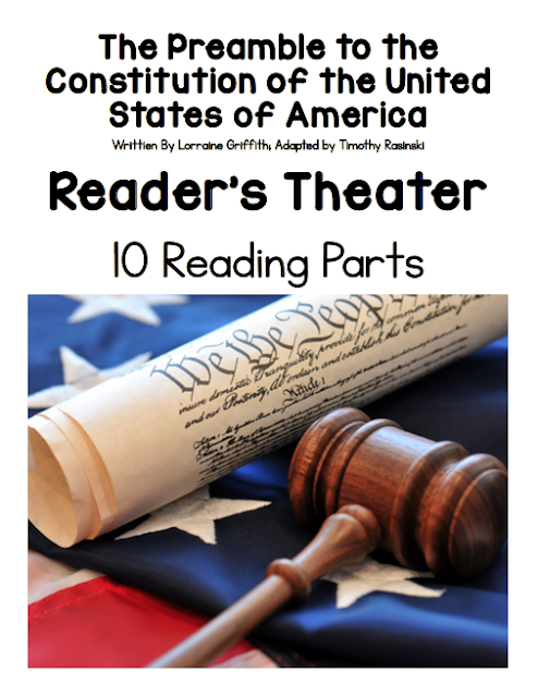 Ideas for teaching about the US Constitution plus a free printable readers theater