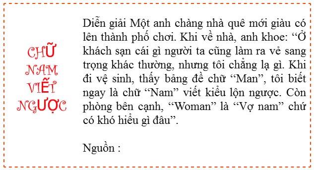 Chữ Nam viết ngược