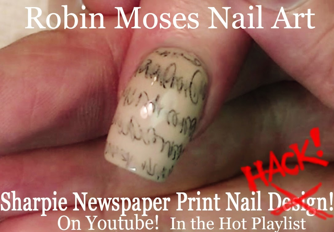 Nail Art by Robin Moses: Sharpie Pen Nail Art Hack for Faux ...