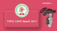 TSPSC CDPO Result