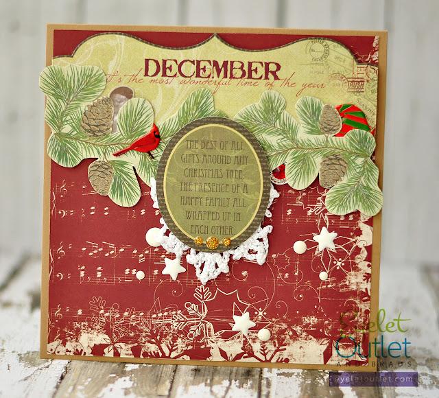 holiday card |eyelet Outlet DT @akonitt #card #eyeletoutlet #by_marina_gridasova #enamels #holidaycard #brads