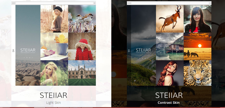 Stellar wordpress full screen Creative photography theme
