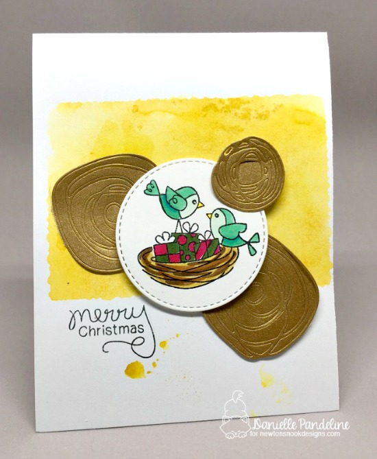Bird Christmas Card by Danielle Paneline | Holiday Tweets Stamp Set by Newton's Nook Designs #newtonsnook