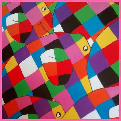 Foto del libro de Elmer elefantes de colores