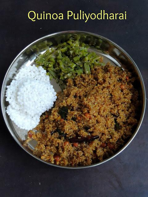 Quinoa Puliyodharai, Quinoa Pulisadham