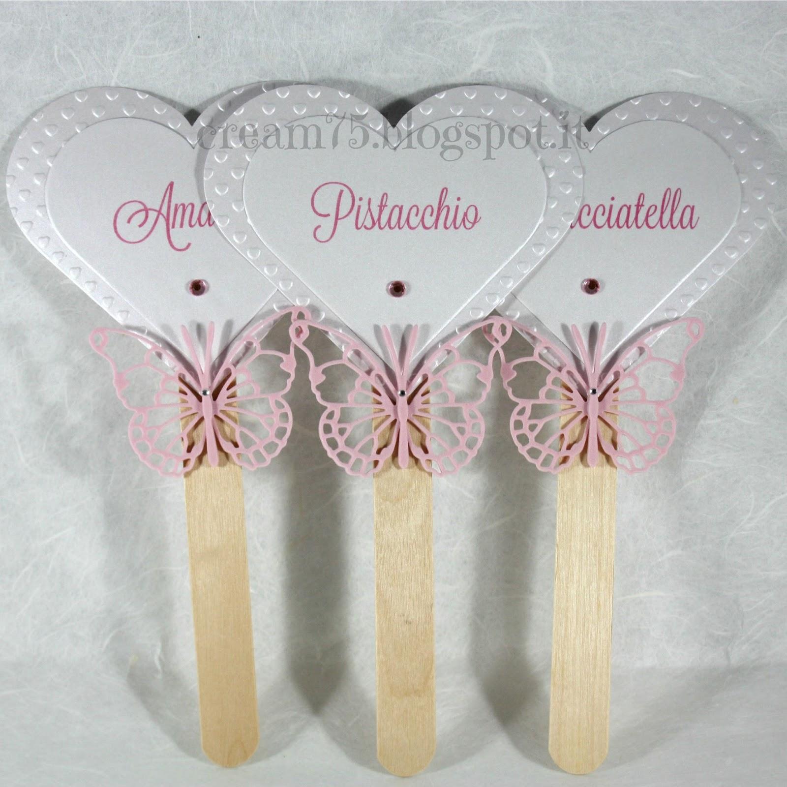 Ben noto My Sweet Blog: Cartellino confettata cuore e farfalla TD58
