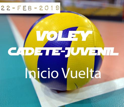 VOLEY CADETE-JUVENIL: Inicio Vuelta