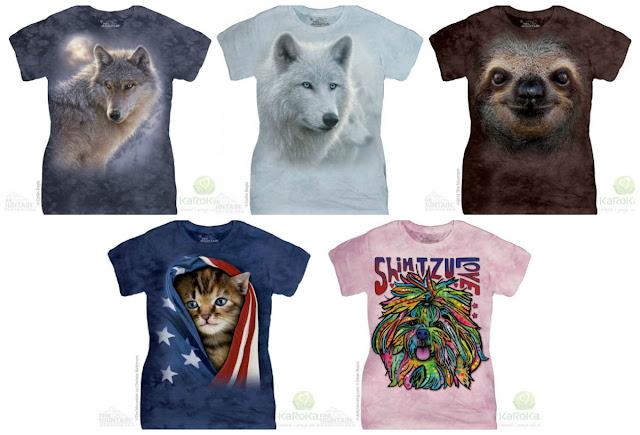 motyw wilka, koszulki z kotem, the mountain tshirt, karoka