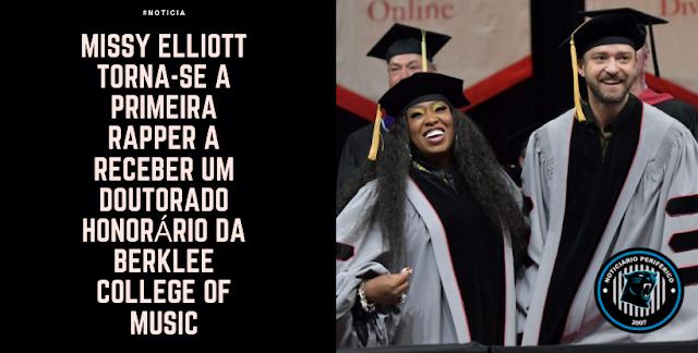 Missy Elliott torna-se a primeira rapper a receber um doutorado honorário da Berklee College of Music