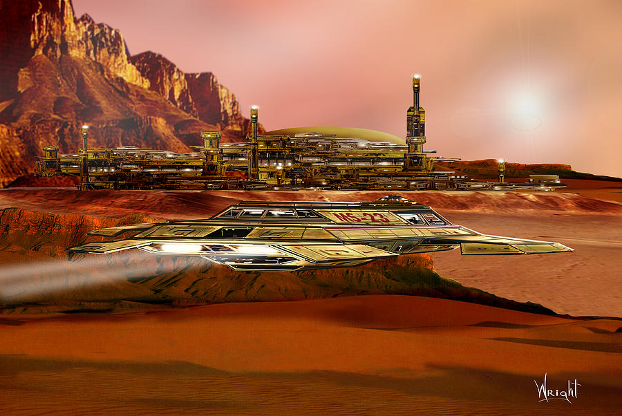 Mars colony by Bill Wright