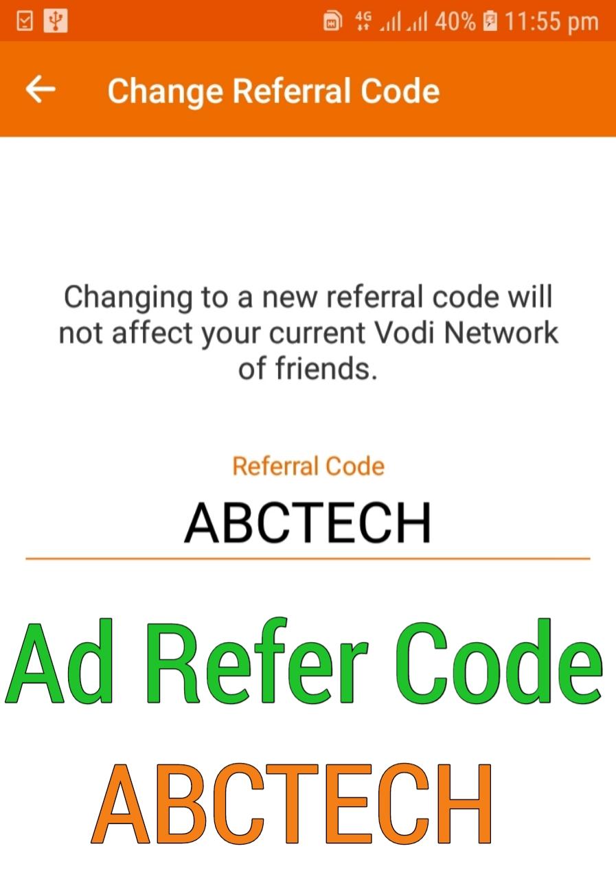 Vodi App Refer Code