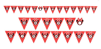 Bunting Flag HAPPY BIRTHDAY Minnie Mouse