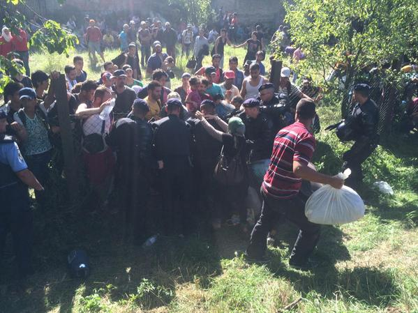 Migrantes romperam barreiras policiais para entrar na Croácia