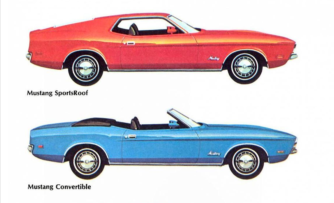 1972 Ford Mustang Colors