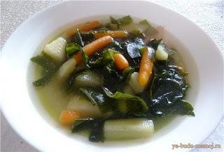 суп из водорослей