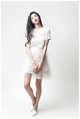 falda de tul blanca