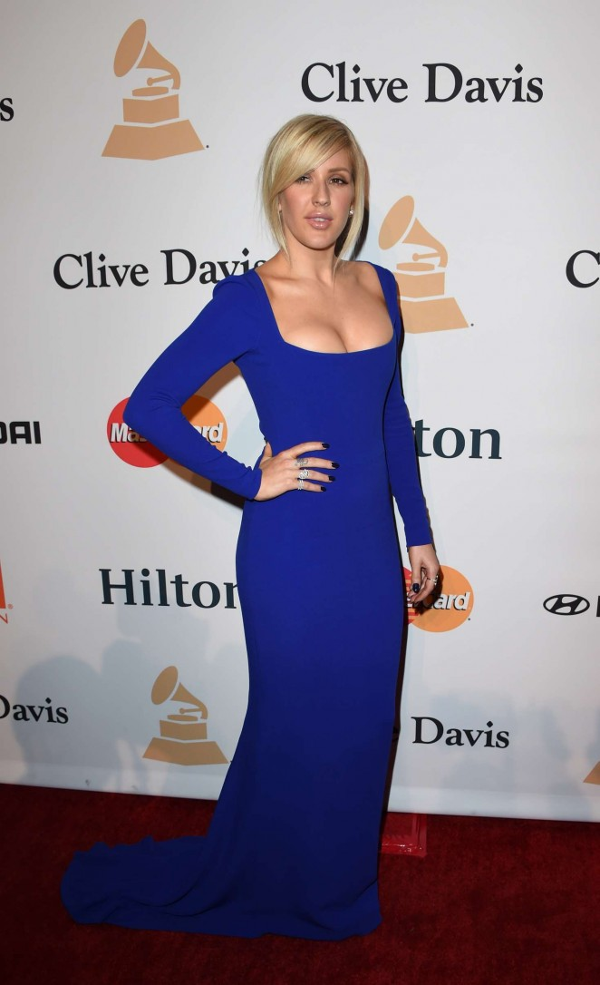 Ellie Goulding 2016 Sizzling Photos In Blue Dress