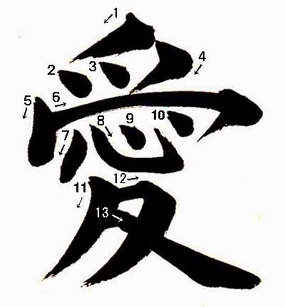 write ai tai kanji