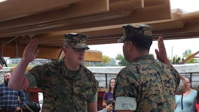 USMC promotion ceremony onboard Niagara