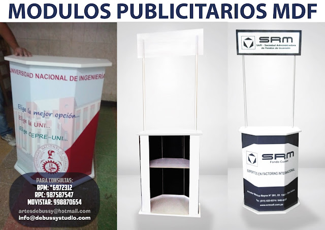 Modulos Publicitarios Desarmables Lima Modulos