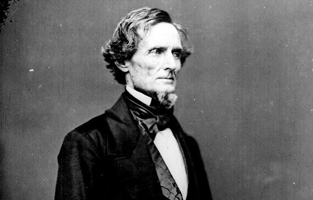 Jefferson Davis, a former United States Secretary of War and Senator from the State of Mississippi, served as the President of the Confederate States of America from 1861-1865. After the war, he was captured, indicted for treason, and imprisoned for two years -- after which he was freed on bail. His case was eventually dropped in 1869, and he lived another twenty years, passing away at the age of 81.