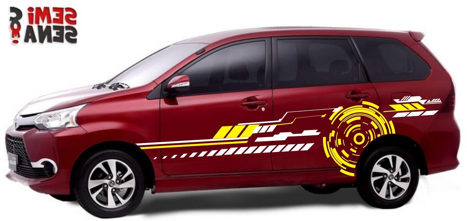 Cutting Sticker Mobil Warna Merah Modifikasi Style