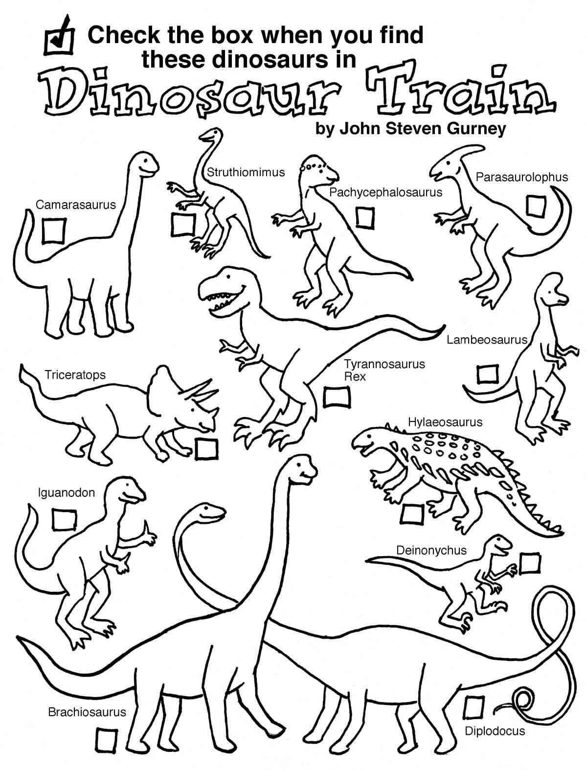 Dino Tren Para Colorear 2