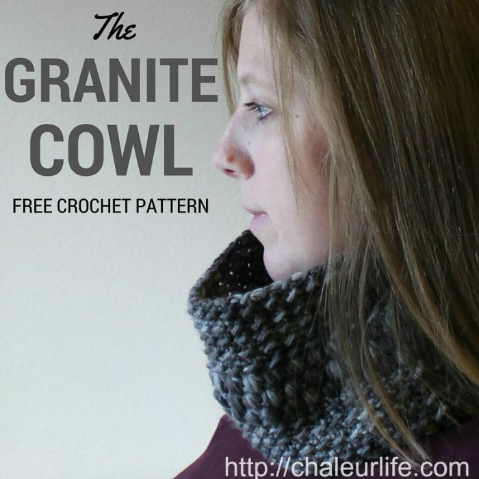 Granite Cowl - Free Crochet Pattern