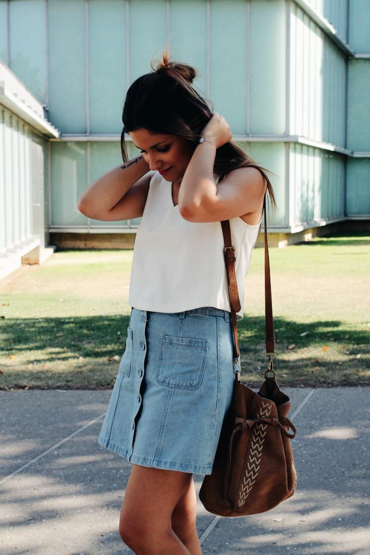 falda vaquera botones blog de moda