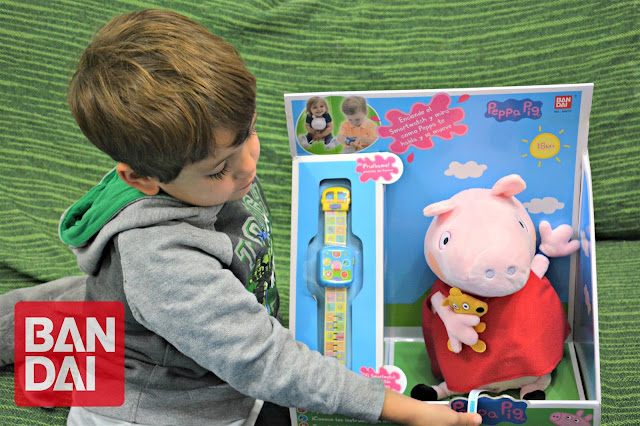 Peppa pig y su smart watch de bandai   bebé friki