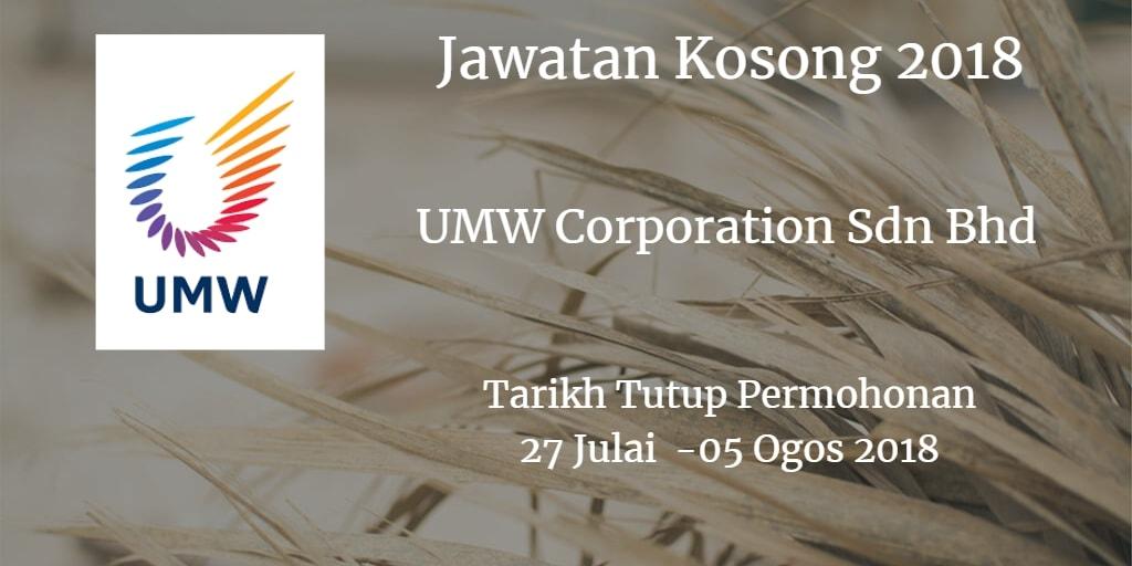 Jawatan Kosong UMW Corporation Sdn Bhd 27 Julai - 05 Ogos 2018