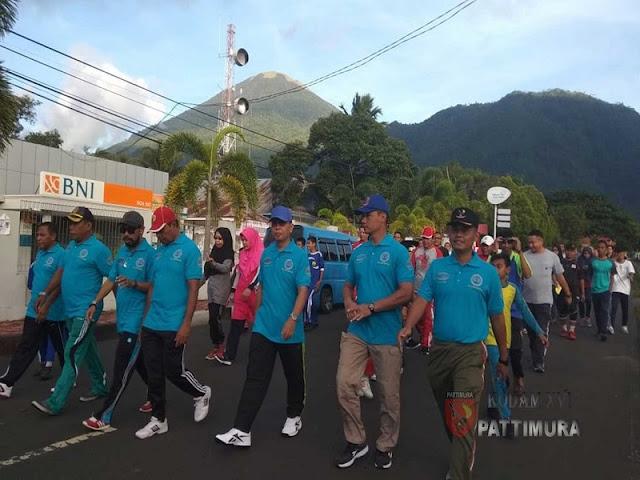 Pemkot Tidore Kepulauan Gelar Jalan Santai dan Deklarasi Anti Narkoba
