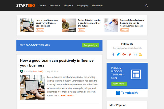 How To Install and Setup StartSeo Blogger Template