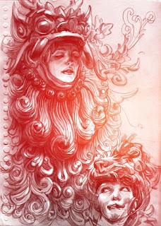 Retrato de mujer a lapiz