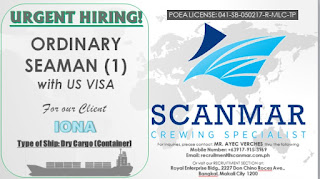 SEAMAN JOB INFO - Maritime Available vacancy for ordinary seaman work at container ship deployment November 2018.