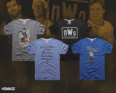 The WWE Legends of the Ring 3 T-Shirt Collection by Homage - Ric Flair, Rowdy Roddy Piper, Razor Ramon & nWo!