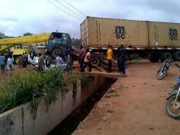 Several feared dead as trailer falls off Lagos bridge