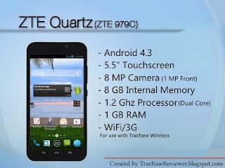tracfone zte smartphone quartz