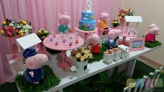 Decoração de festa infantil Peppa Pig Porto Alegre