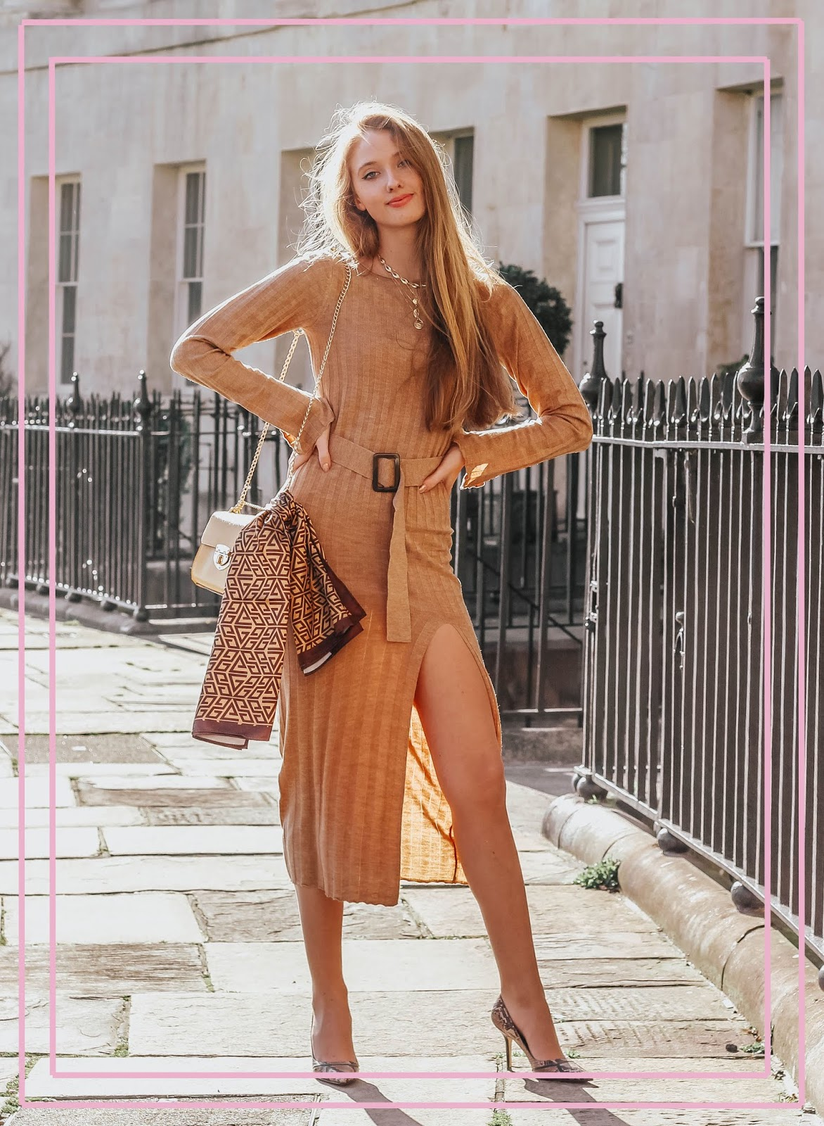 sexy asos knitted midi dress