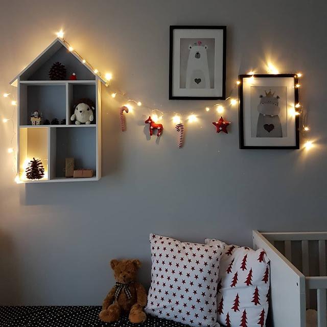 Święta Bożego Narodzenia - dekoracje w Hanulkowym pokoiku