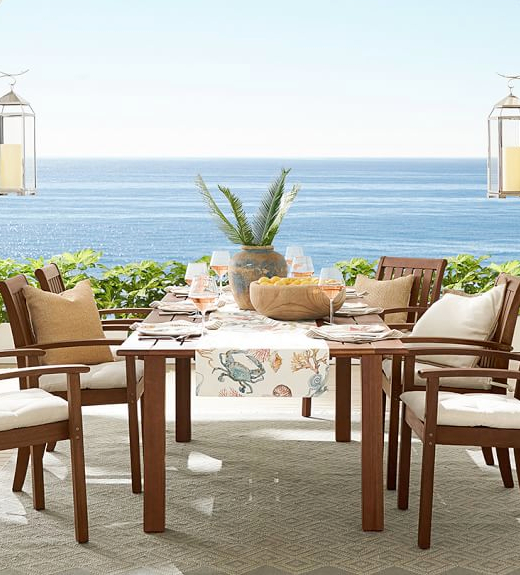 Coastal Table Runner Outdoor Dining