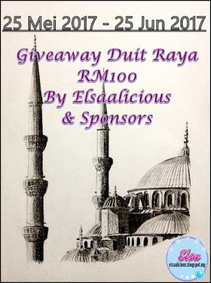 Giveaway Duit Raya RM100 By Elsaalicious & Sponsors