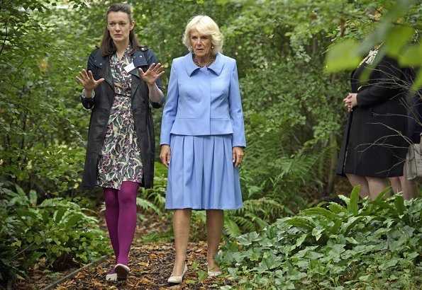 Camilla, Duchess of Cornwall visited Maggie's Centre at Gartnavel Hospital, who has been affected by cancer.