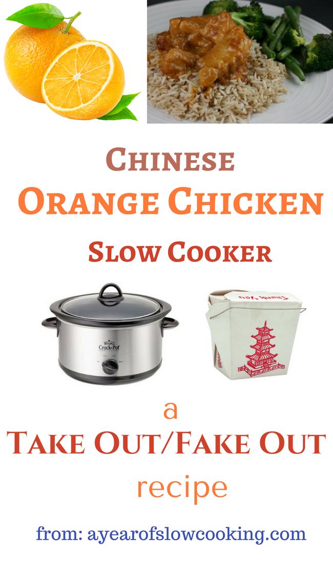 Slow Cooker Copycat Chinese Orange Chicken Recipe - A Year -8898