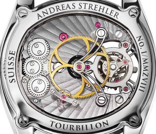 Andreas Strehler Trans-axial Remontoir Tourbillon, back side detail