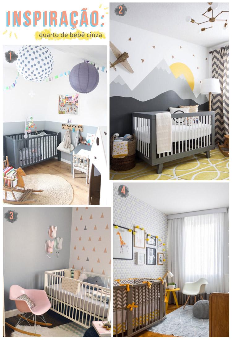inspiração: quartos infantis cinzas! | espanta-papão